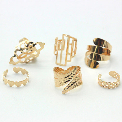 Gold Fever Ring Set