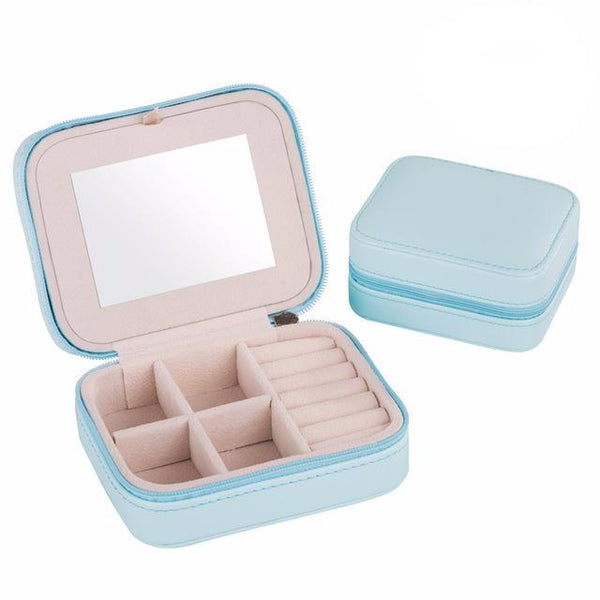 Blue Pastel Casket Box Jewelry Organizer