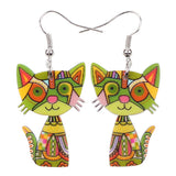 Colorful Cat Earrings
