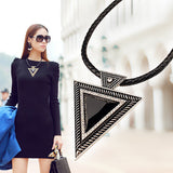 Elegant Black Triangle Necklace