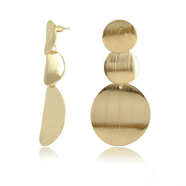 Geometric Water Drop Earrings Gold