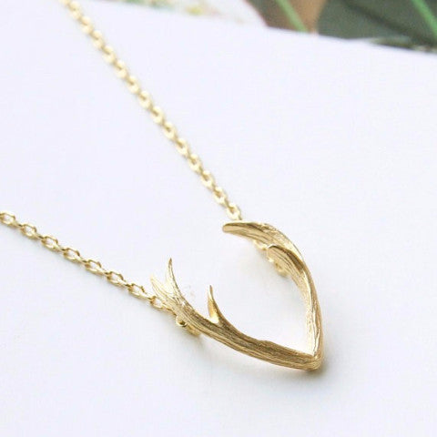 Magical Antlers Gold Necklace