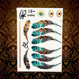 Memorable Summer Metallic Tattoos Oriental