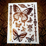 Memorable Summer Metallic Animal Butterfly Tattoo