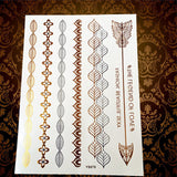 Memorable Summer Metallic Tattoos Arrow