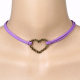 Purple Iron Heart Choker