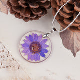 Purple Fun Daisy Forever Necklace