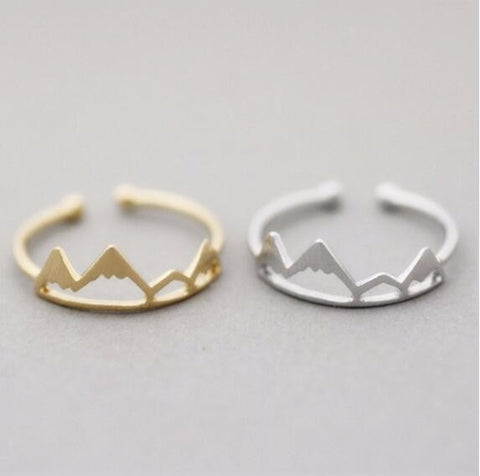 Mountain Top Ring - silver and gold