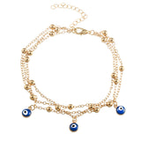 Gold Eye Beads Anklet