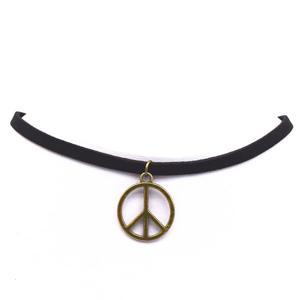 Peace Vintage Statement Choker Necklace