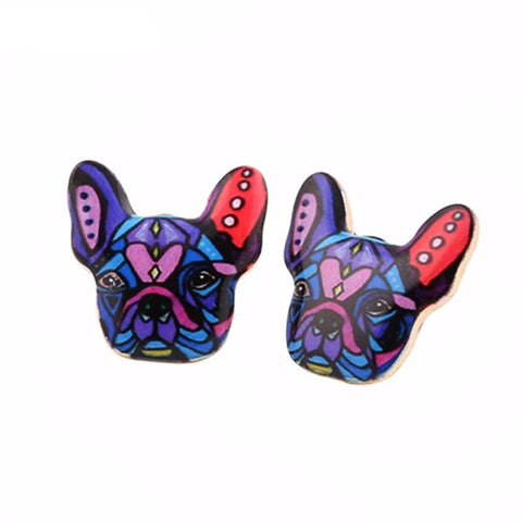 Stud Colorful Doggy Earrings