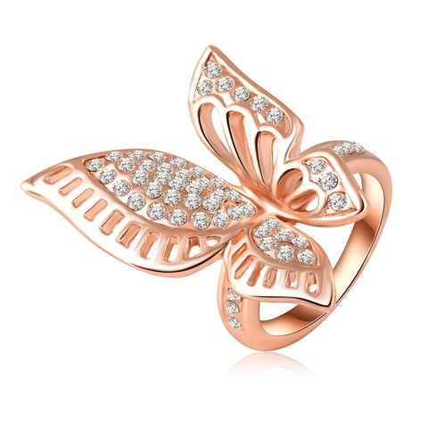 Rose Butterfly Ring