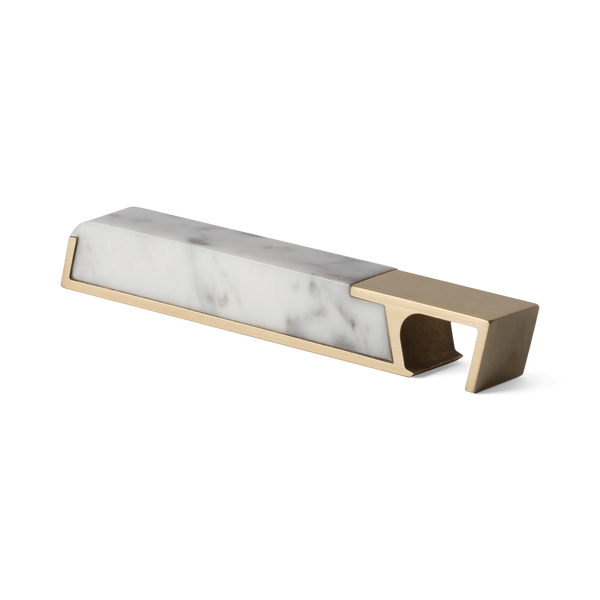 Aluminum & Carrara Marble Bottle Opener
