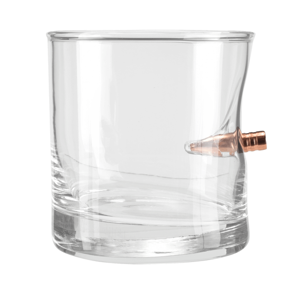 Rocks Glass with Real Bullet