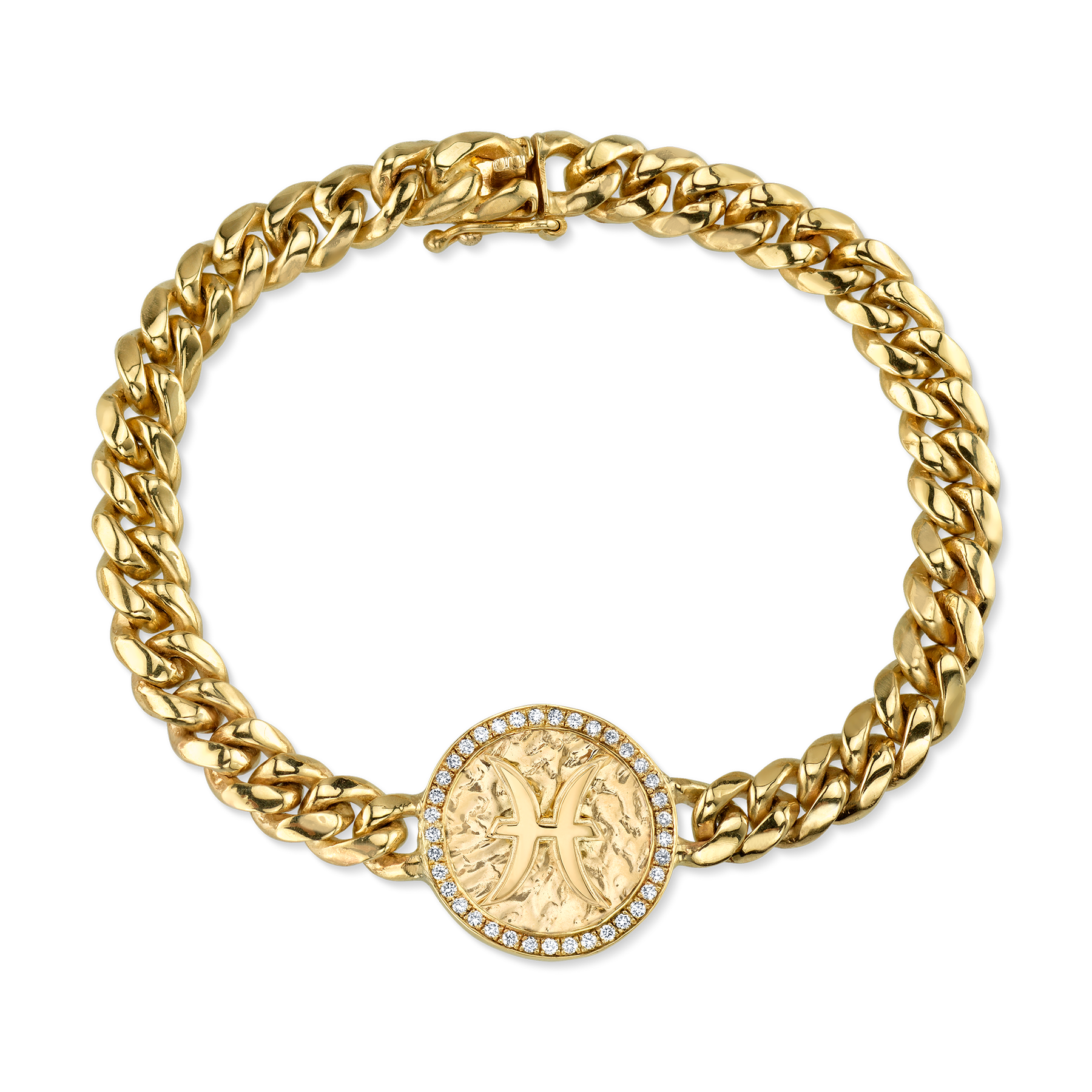 DIAMOND ZODIAC COIN BRACELET