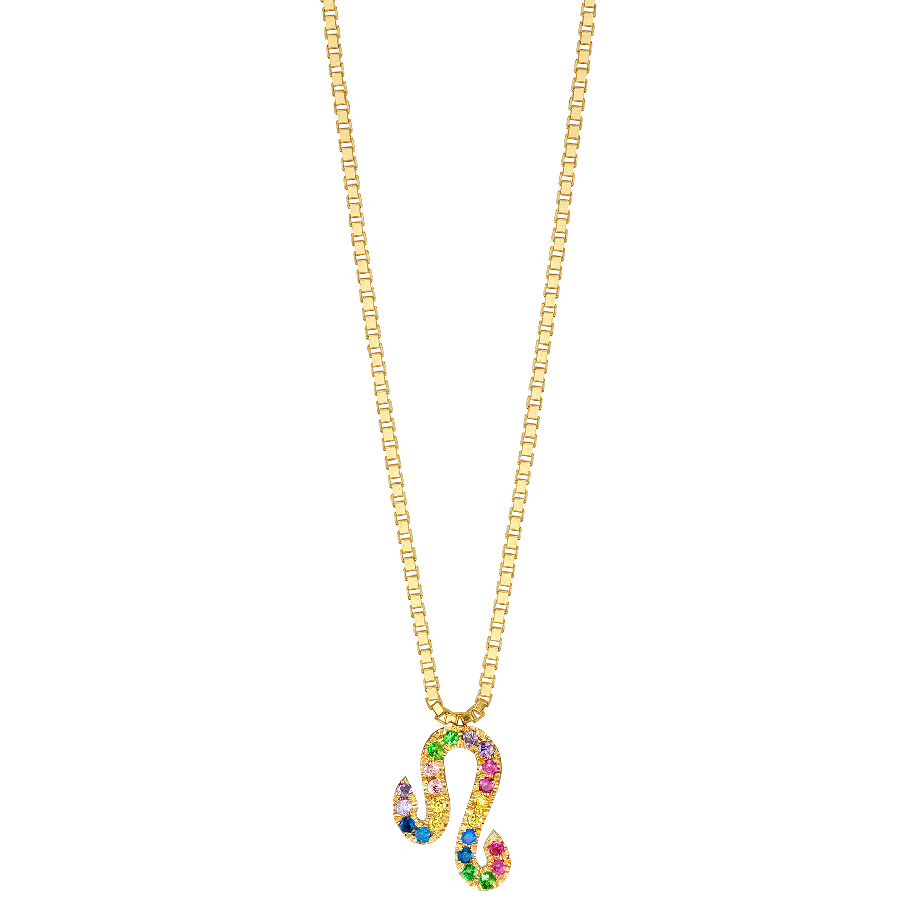 RAINBOW ZODIAC NECKLACE