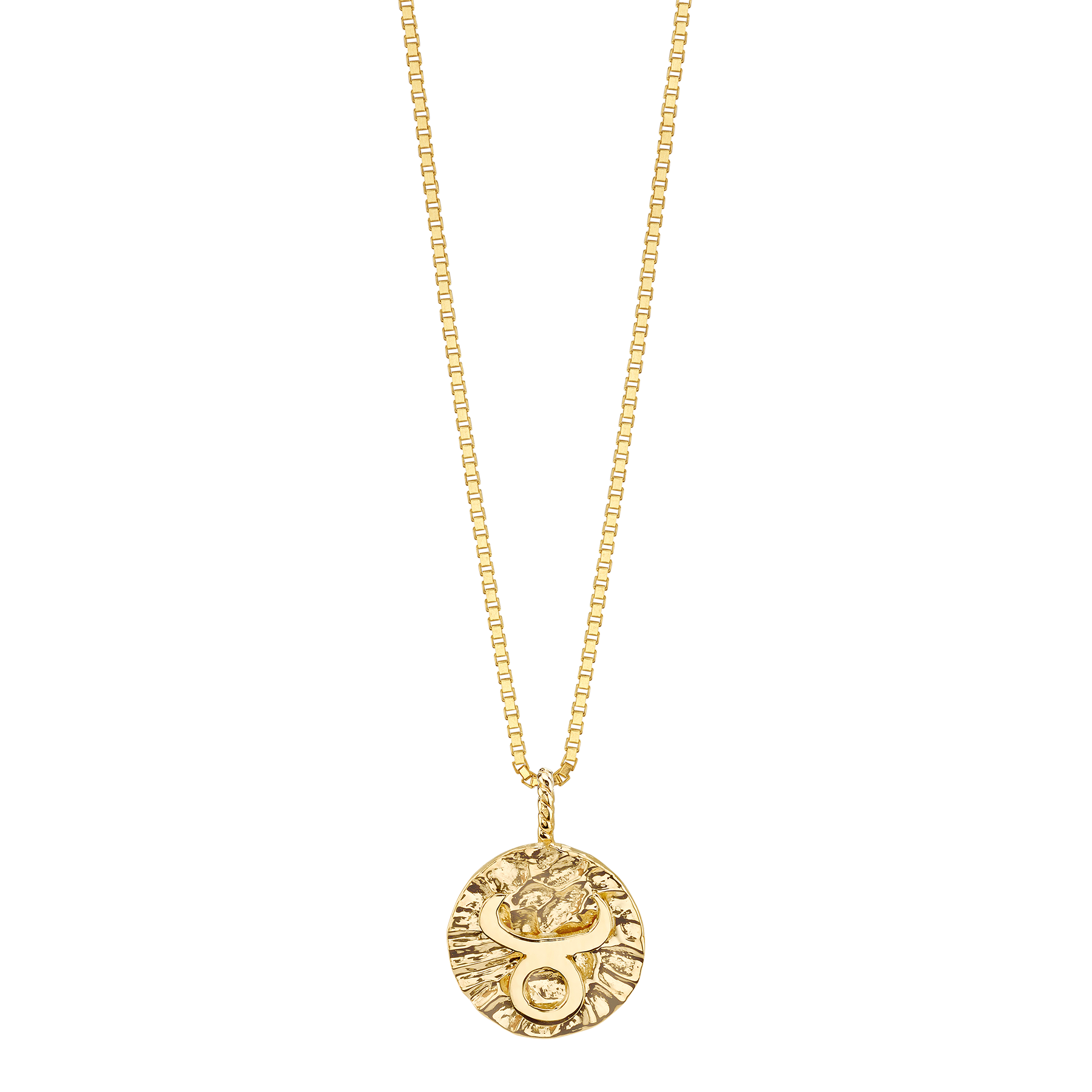 GOLD COIN ZODIAC PENDANT 16 INCHES