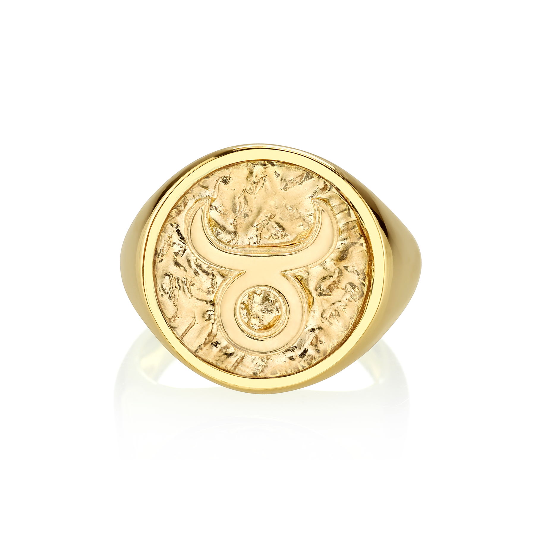GOLD COIN ZODIAC RING