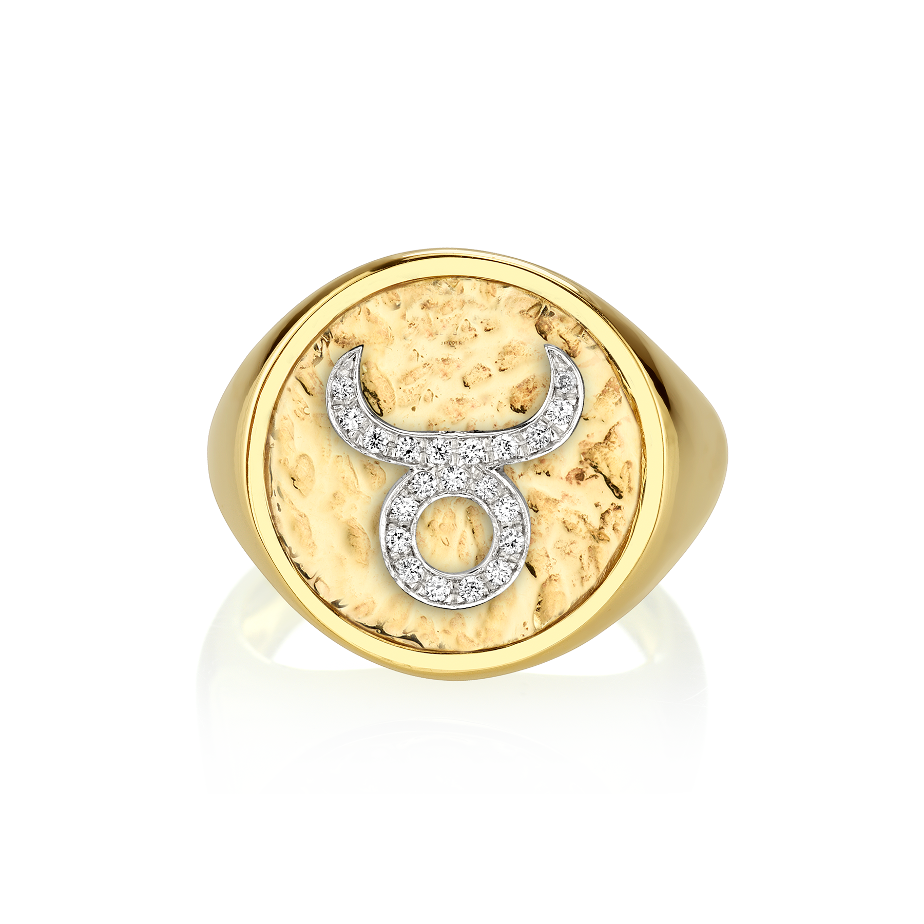 DIAMOND COIN ZODIAC RING