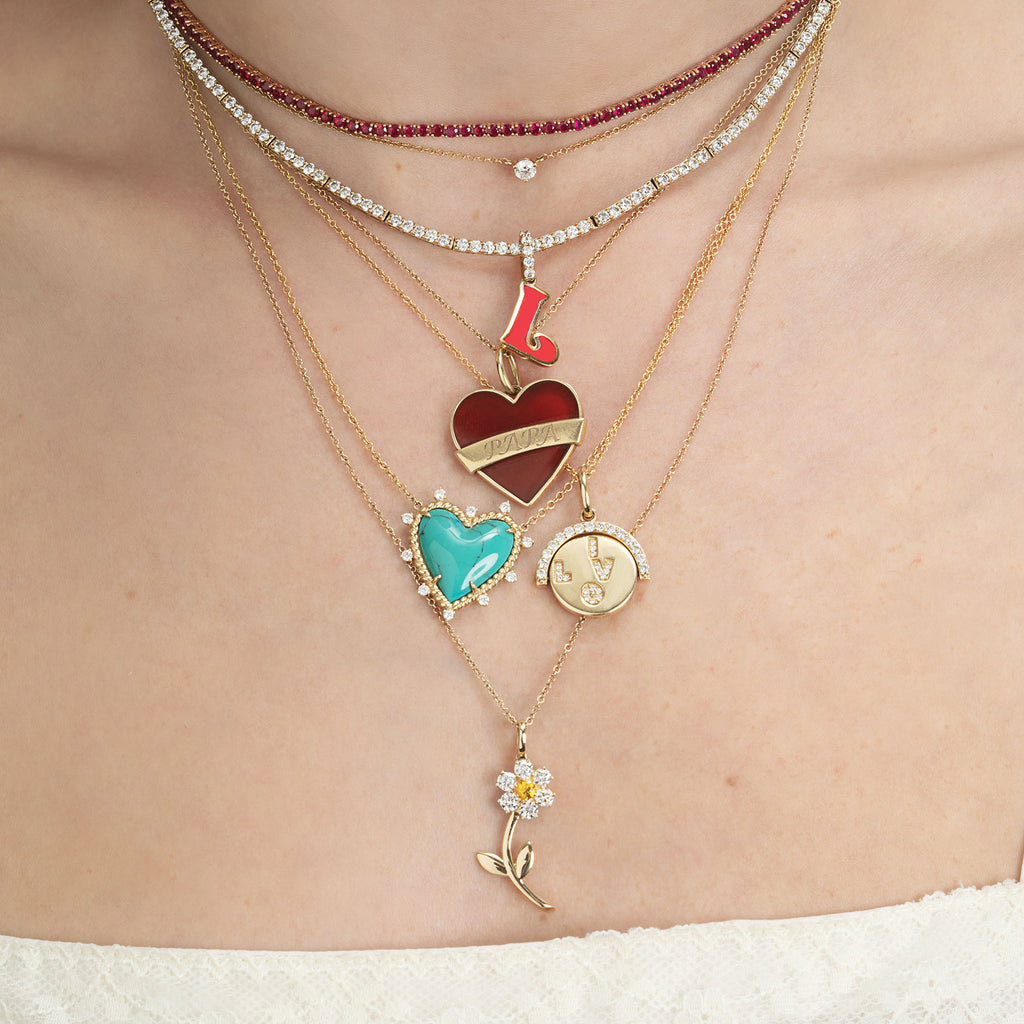 Ruby Perfect Collar Tennis Necklace The Last Line