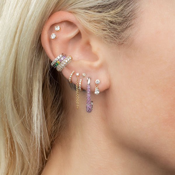 DIAMOND PAVÉ STUD EARRING #5