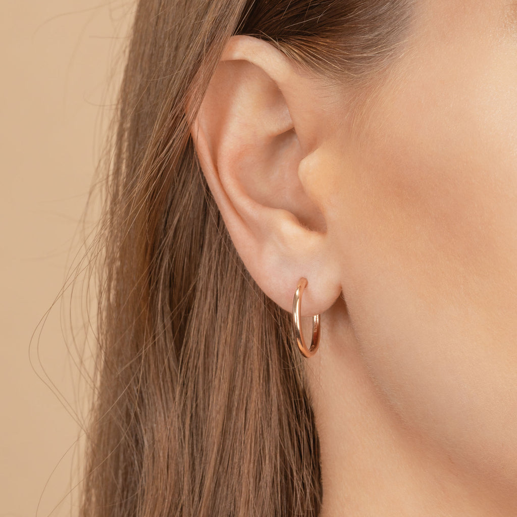 ROSE GOLD SLIM HOOP #2.5 EARRING