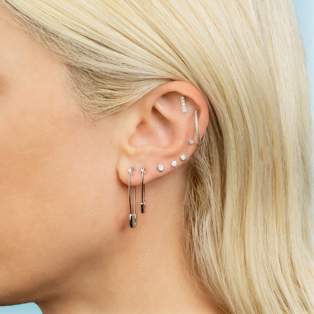 DIAMOND MINI LINE EARRING