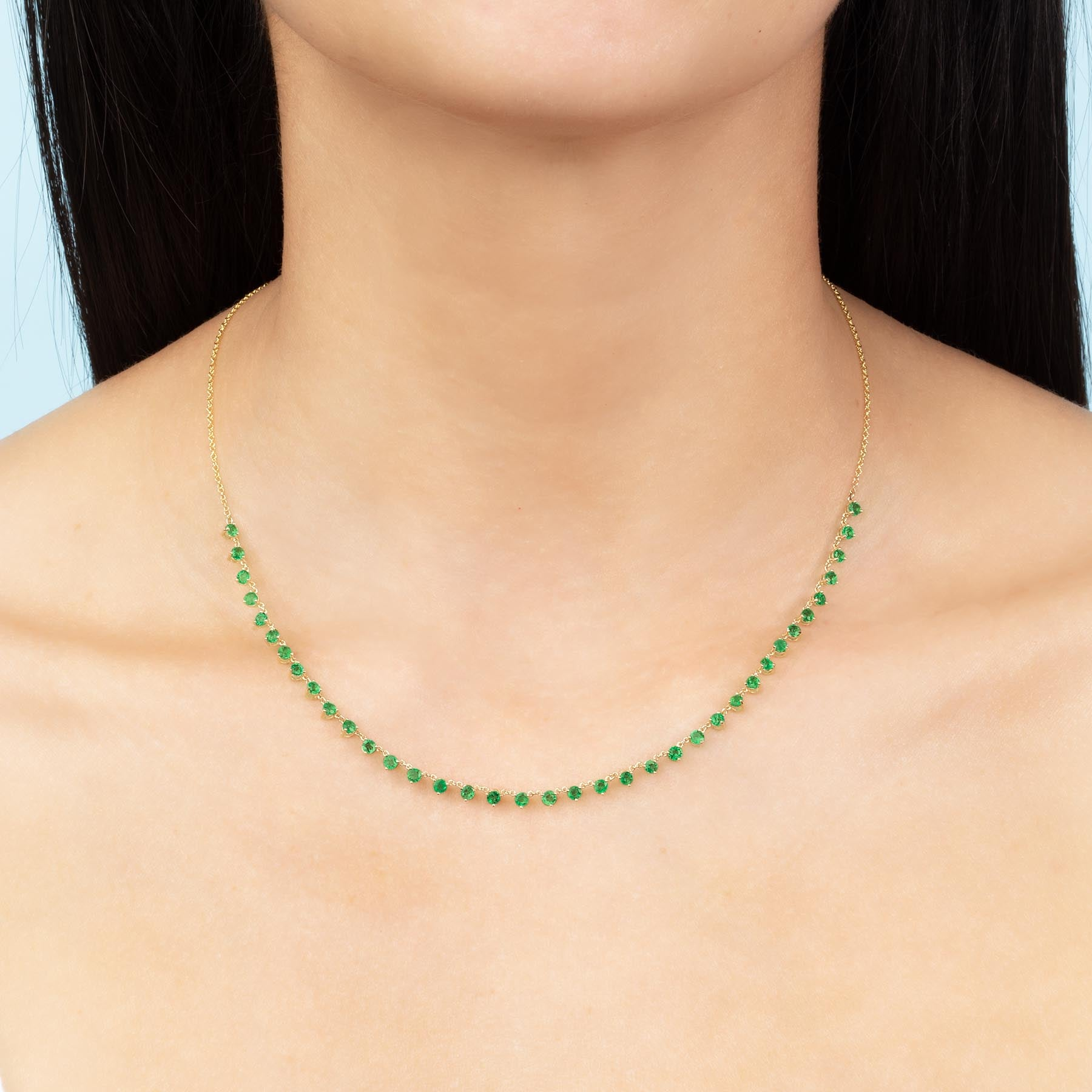 EMERALD FLOATING NECKLACE