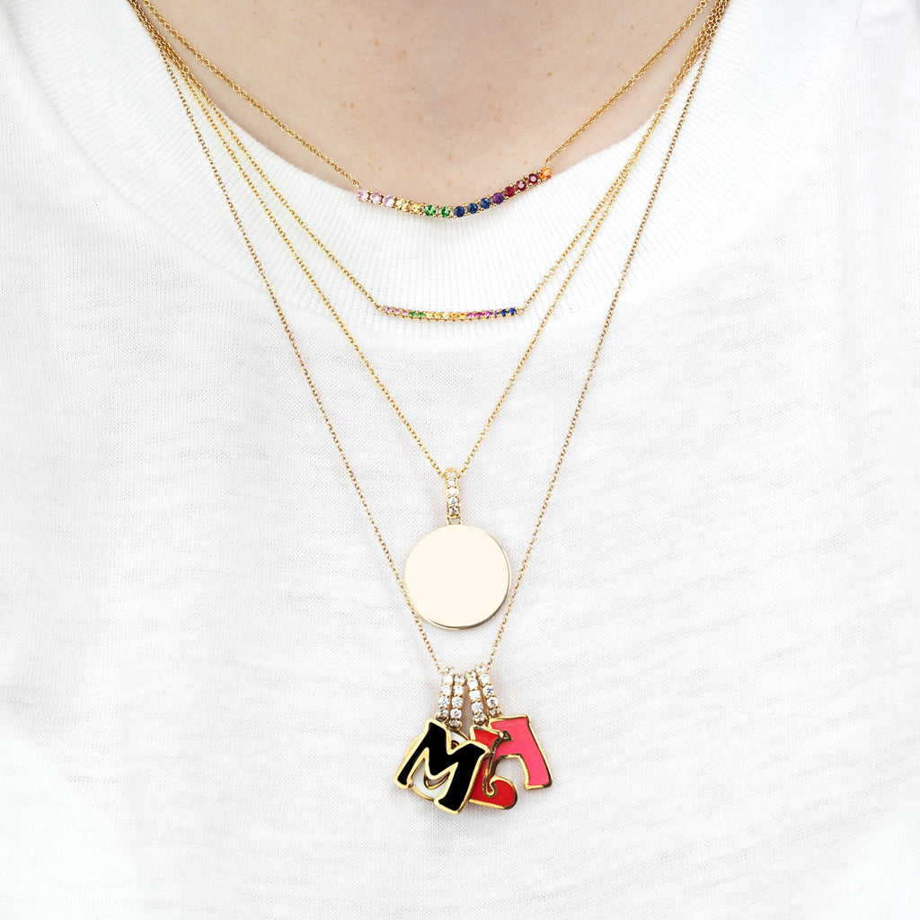 RAINBOW MINI TENNIS NECKLACE