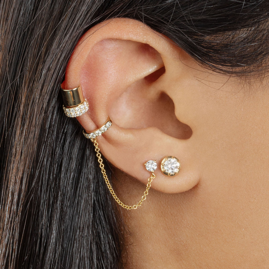 DIAMOND ANTIQUE STUD EARRING