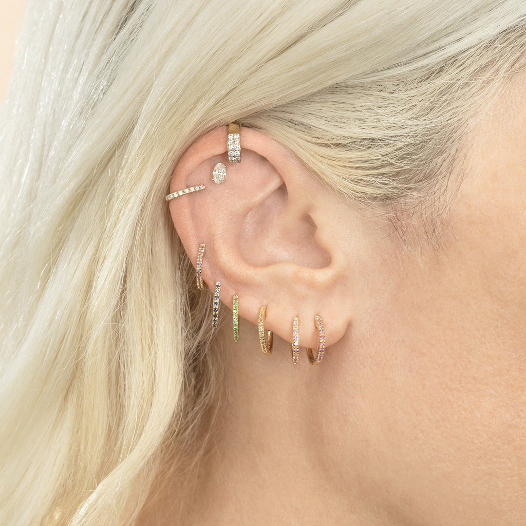 DIAMOND TOP OF EAR CUFF