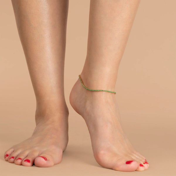 EMERALD TENNIS ANKLET