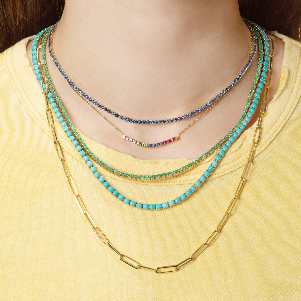 BLUE SAPPHIRE PERFECT COLLAR TENNIS NECKLACE