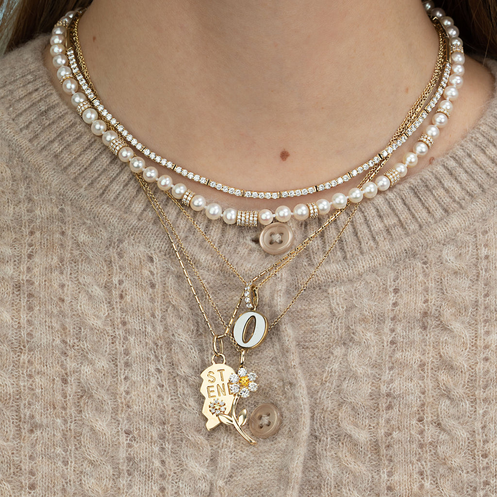 DIAMOND AND PEARL RASA NECKLACE