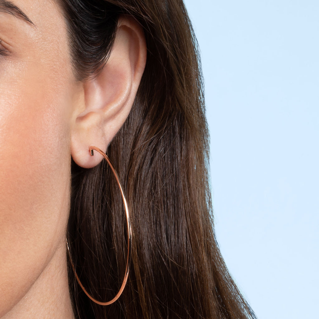 ROSE GOLD LARGE PERFECT HOOP EARRING