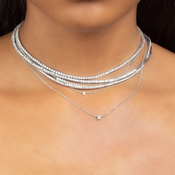 PETITE SOLITAIRE DIAMOND NECKLACE
