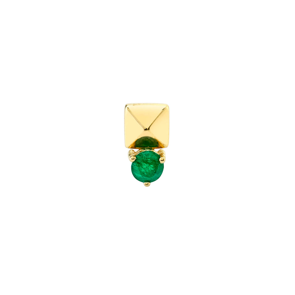 EMERALD KENNY PYRAMID STUD EARRING