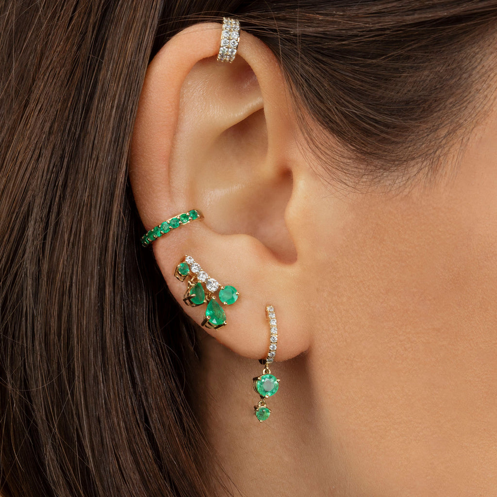 EMERALD PERFECT EAR CUFF
