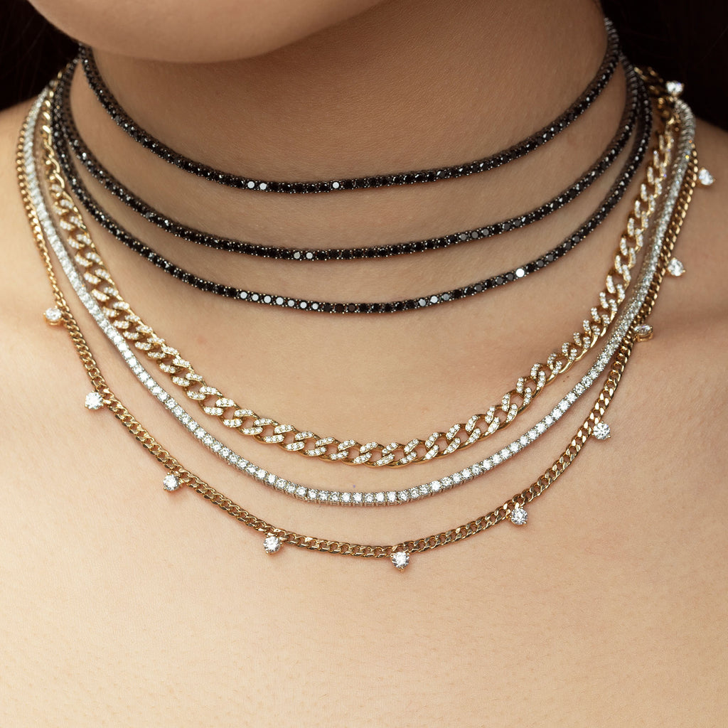 BLACK DIAMOND PERFECT COLLAR TENNIS NECKLACE