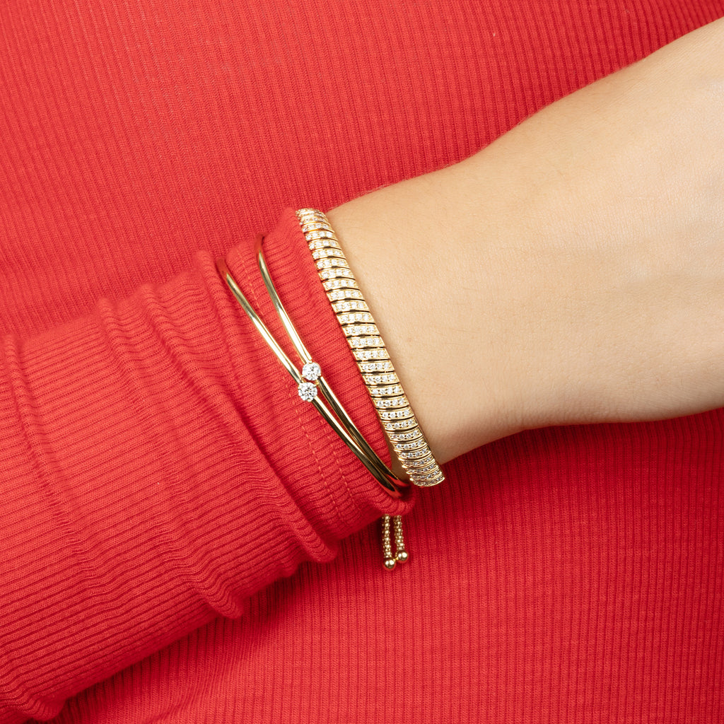 DIAMOND SOLITAIRE CUFF