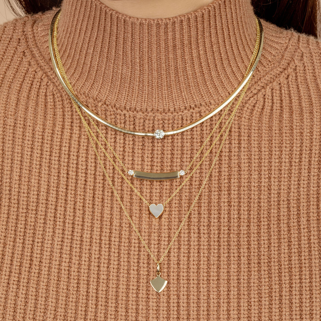 DIAMOND HEART DARLING NECKLACE