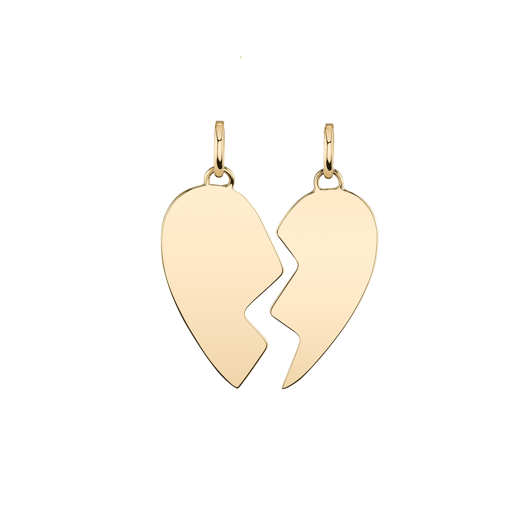 GOLD BEST FRIEND HEART PENDANT SET