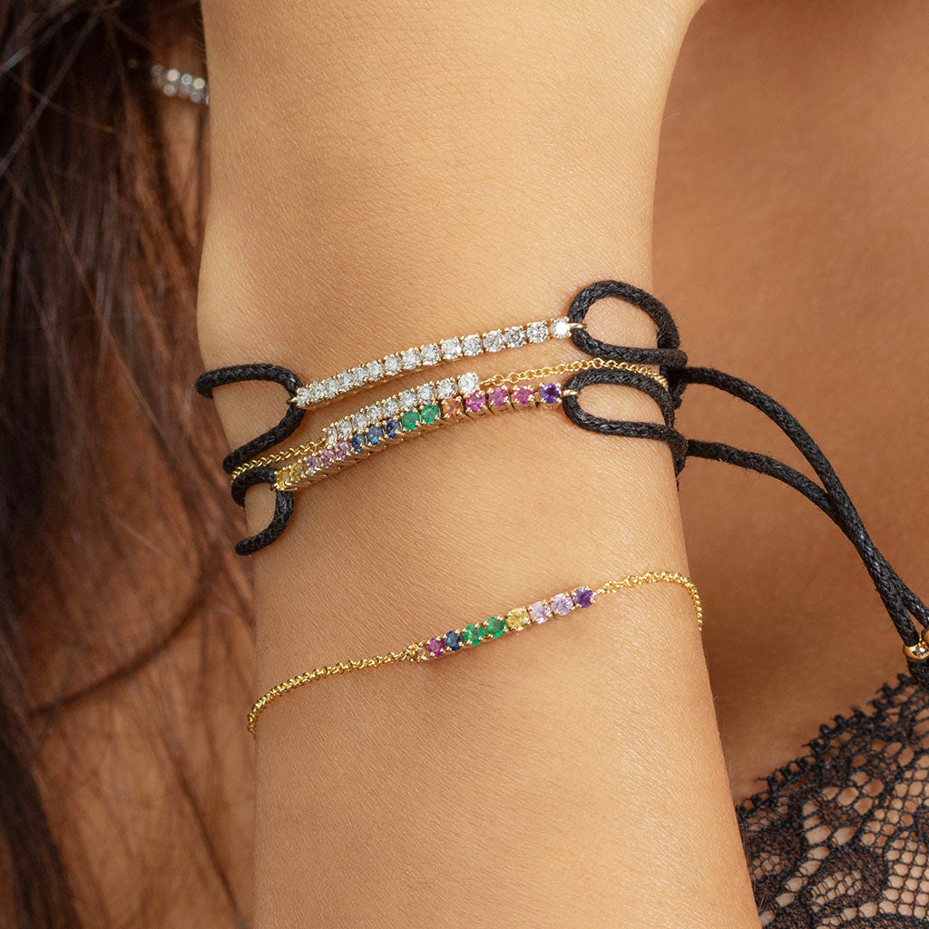 DIAMOND TENNIS STRING BRACELET