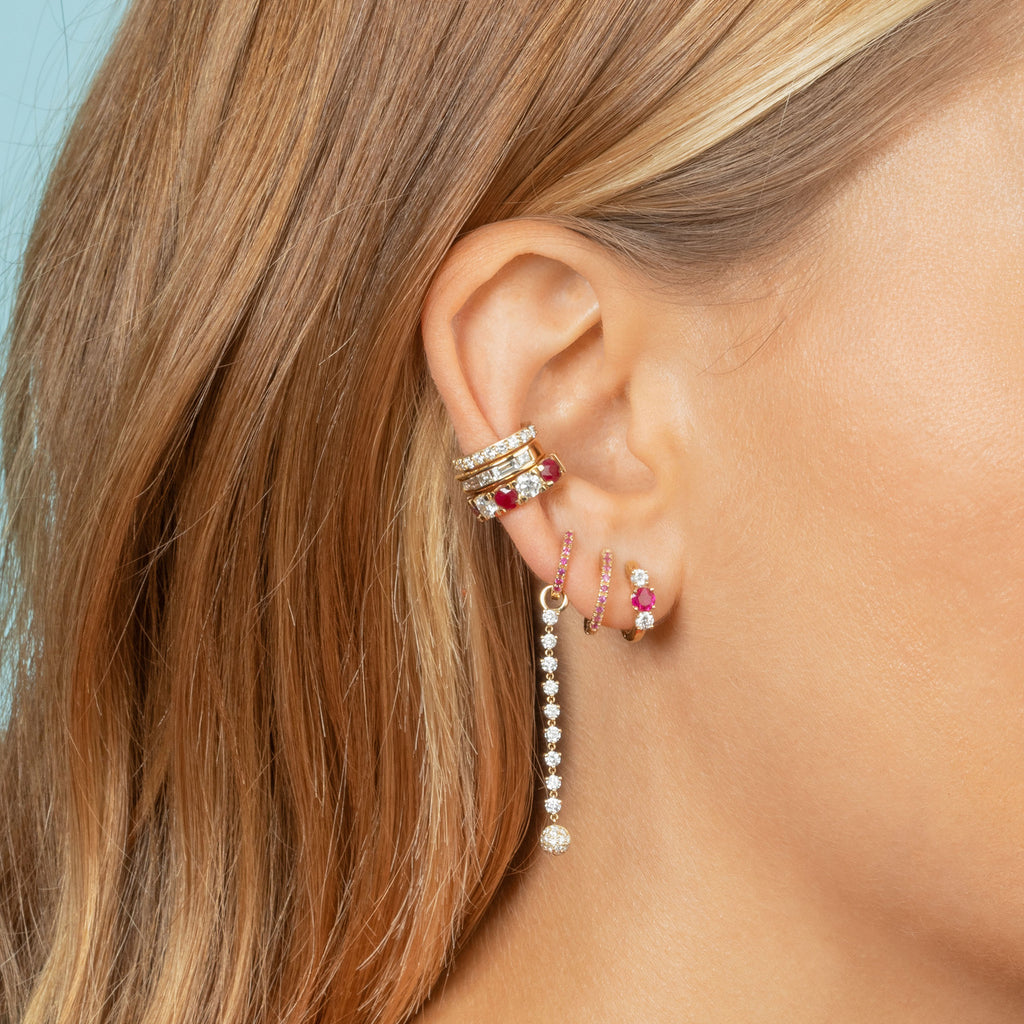 RUBY LARGE HUGGIE EARRING