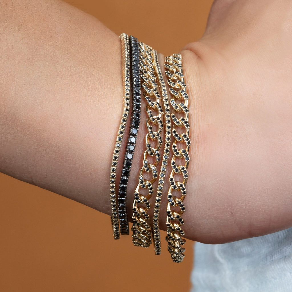 BLACK DIAMOND PERFECT CURB LINK BRACELET