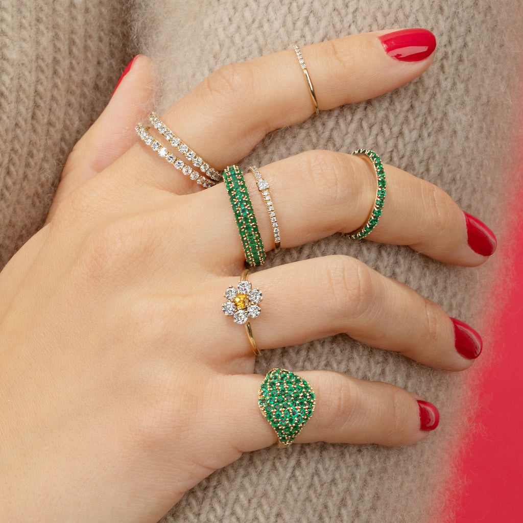 EMERALD BIGGIE ETERNITY BAND