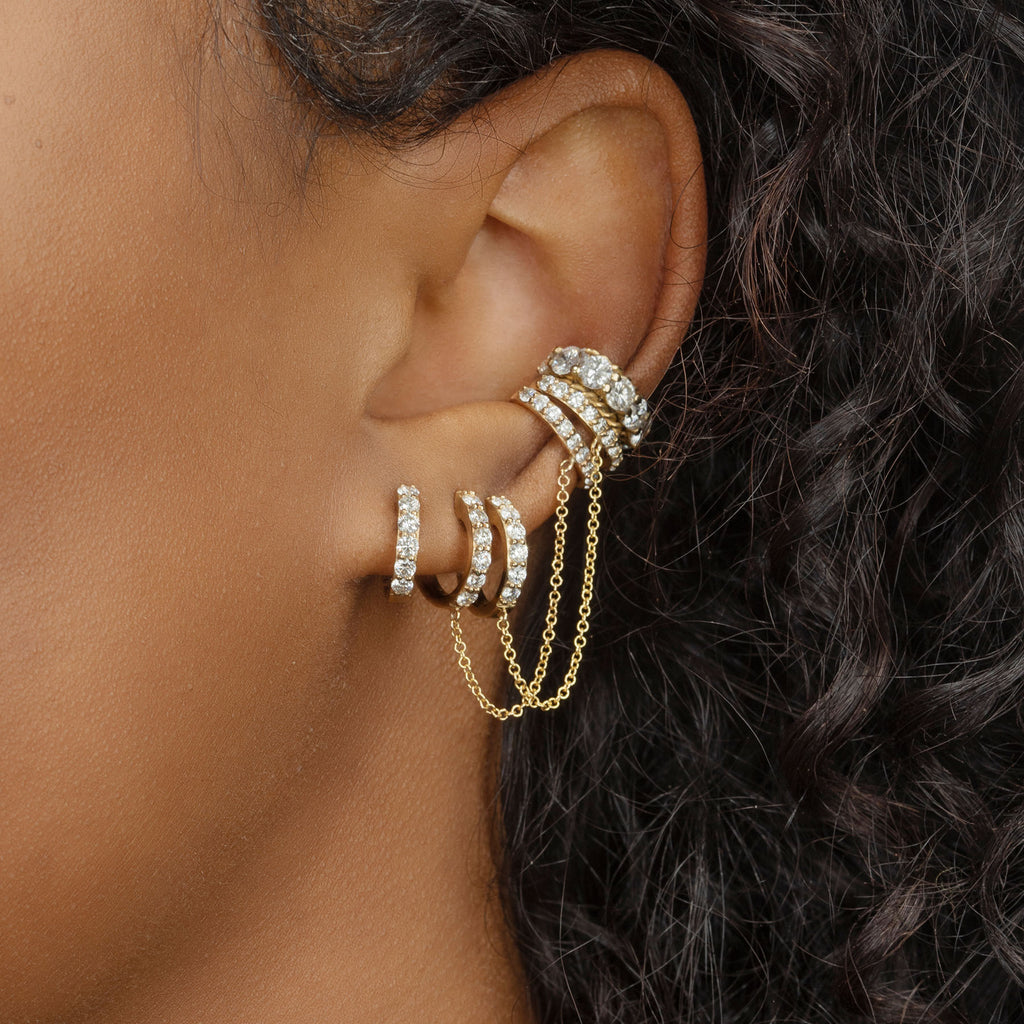 DIAMOND BIGGIE CONNECTED CUFF EARRING