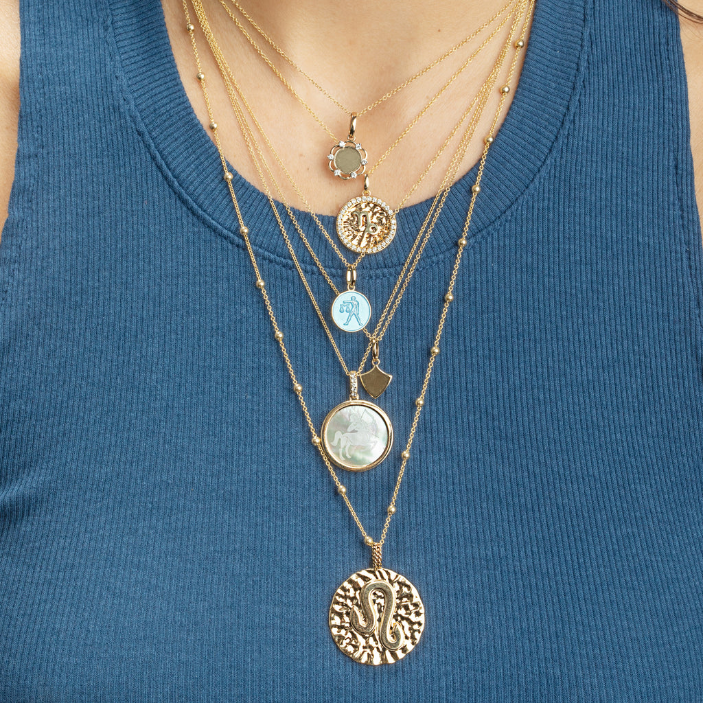 GOLD MINI SPHERE CHAIN NECKLACE