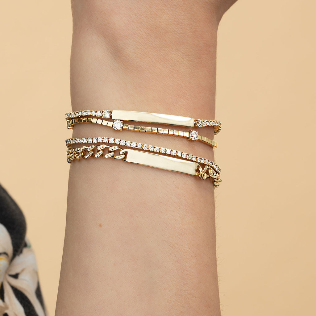 DIAMOND ID CURB LINK BRACELET