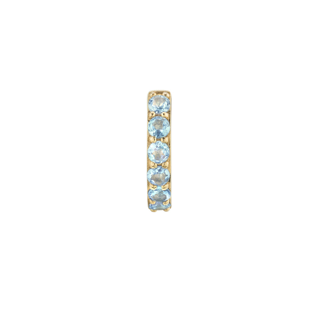 AQUAMARINE LARGE BIGGIE EARRING